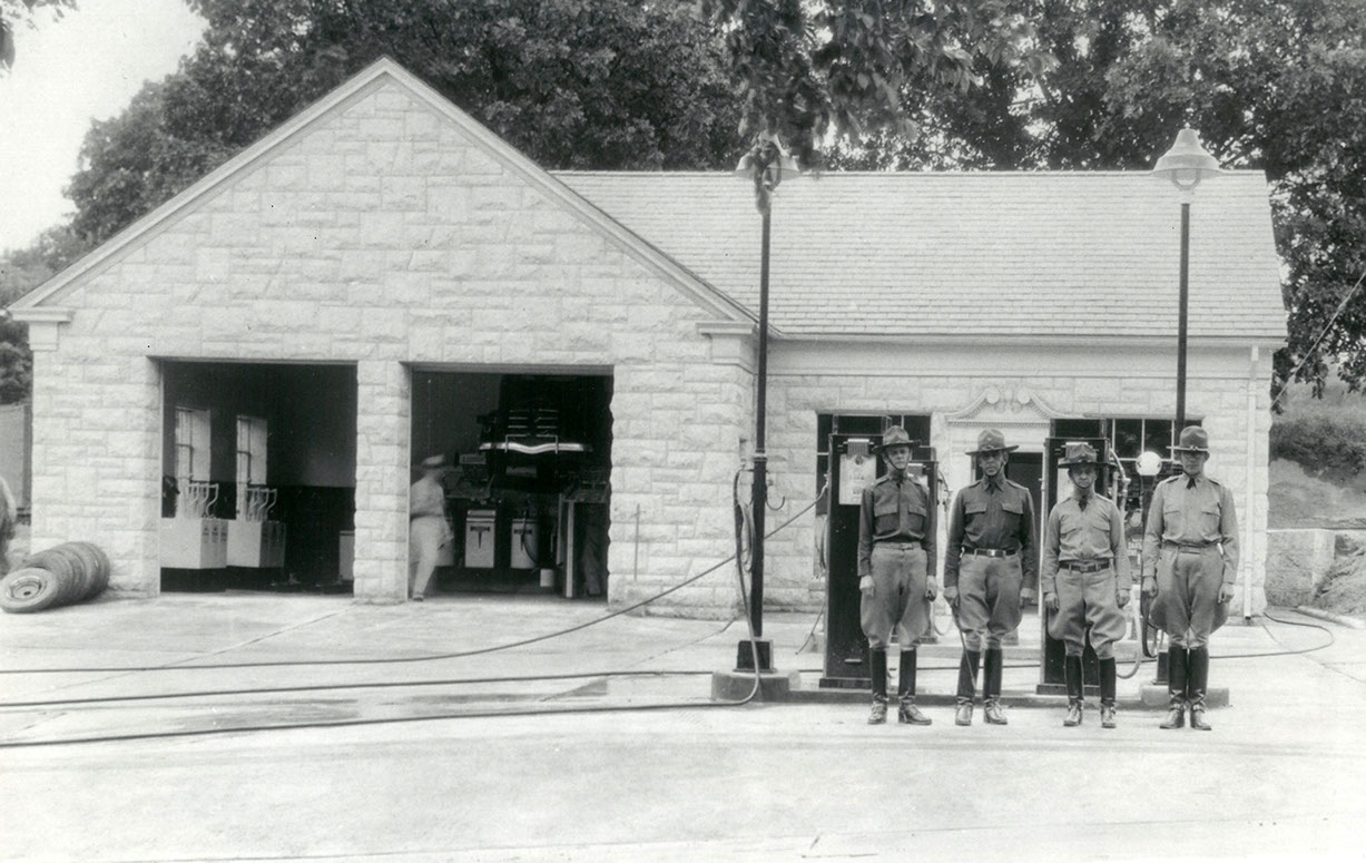 From Almost The Time The First Model T Rolled Off The Assembly Line, Post  Exchanges Have Operated Service Stations, Like This 1920 Era One At Fort  Riley, ...